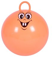 Eco-friendly Decal Jumping Ball With Round Handle