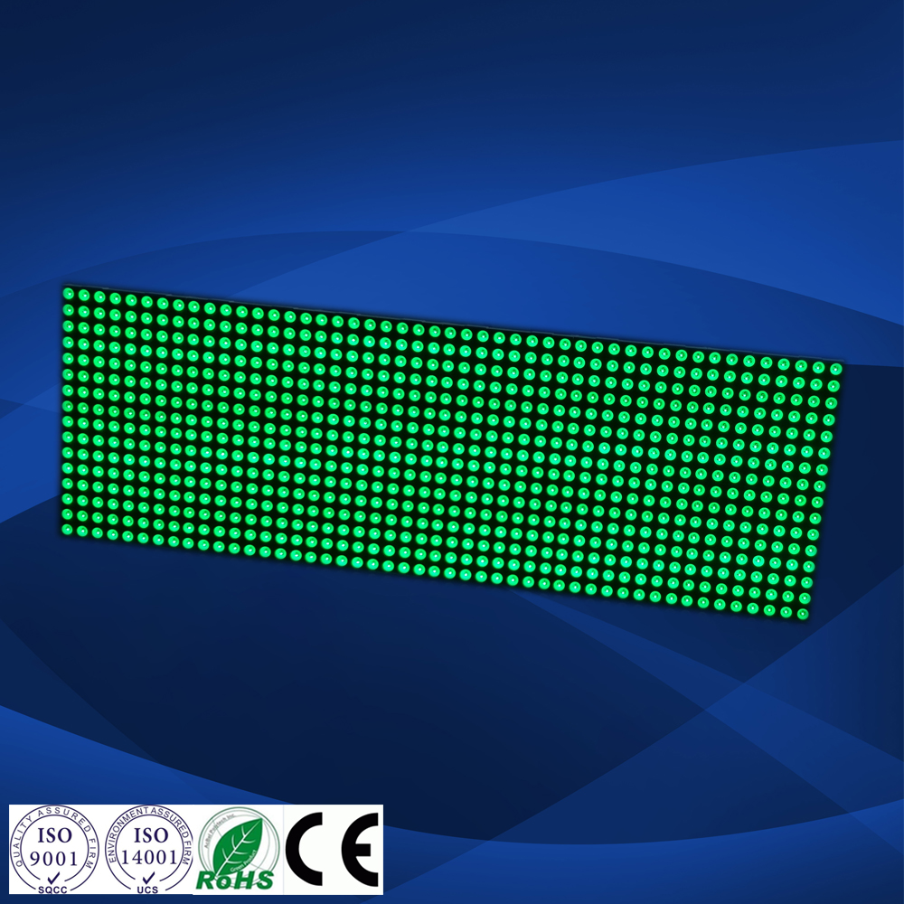 brightness green P4 led matix display led commerical advertising display panel