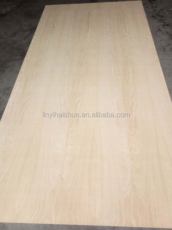 21mm thickness Linyi factory hardwood core red oak veneer faced plywood