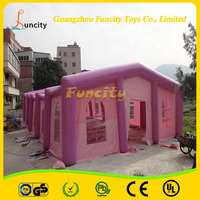 Romantic Colour Pink Inflatable Wedding tent , Wedding Party Tent Design , Inflatable Party Bar Tent For Events