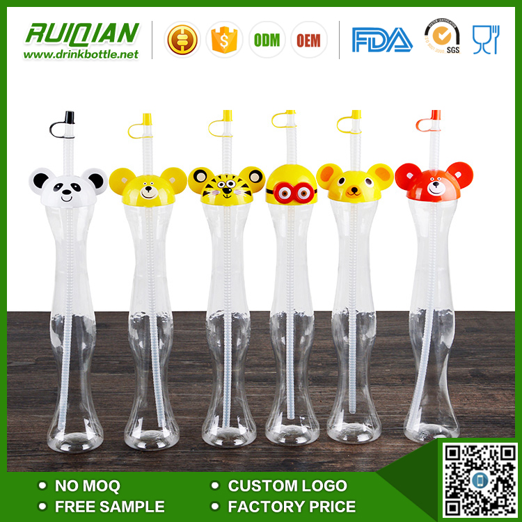 wholesale 450ml Originality milk tea soda beverage cup bear design With cover for drinking store
