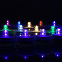 Battery Powered Mini Submersible Blinking Tea Light For Wedding Events Centerpiece Decoration