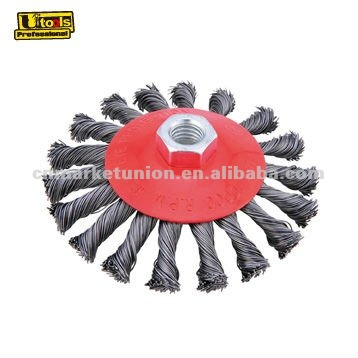 industiral twist knotted wire end cup brush