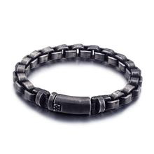 Stylish 316l Custom Retro Mens Hand Rolo Chain Stainless Steel Bracelet For Men