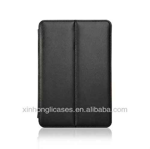 leather notebook cover/tablet cover for ipad mini
