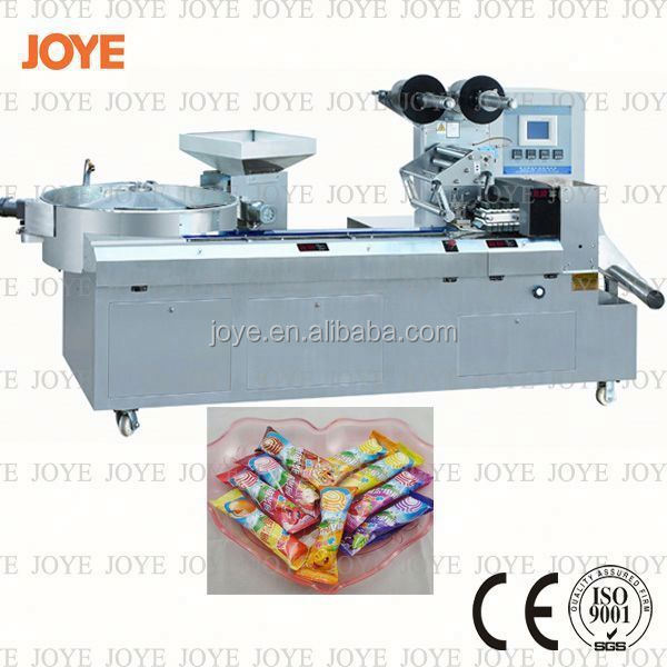 New Horizontal Flow Wrap Sphere Lollipop Candy Packing Machine JY-1200/DXD-1200 With High Speed