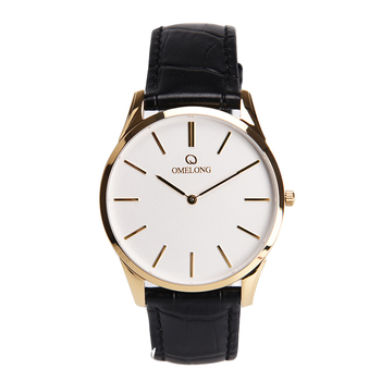 Unisex Genuine Leather Band Date Calendar Wrist Watch Casual Business styles for Simple Design Luxury temperament