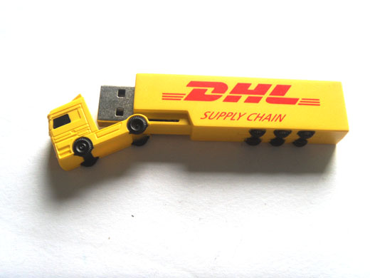 Cheap Promotion gift Wholesale popular creative custom logo gadgets plastic truck shape bulk low price 2gb flash usb drive