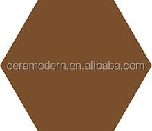 Brown Colored Hexagonal Design Wall Tile And Floor Tile Decor