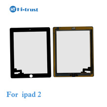 Free shipping by DHL Full Assembely Digitizer Touch Screen for iPad 2 with Home button and Adhesive Sticker