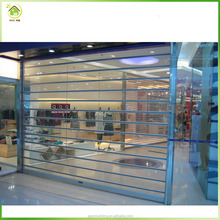Aluminum commercial polycarbonate transparent roller shutter door
