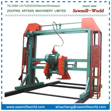 Double Saw Blade Angle Sawmill Versatile Wood Cutting Machine with eletric engine