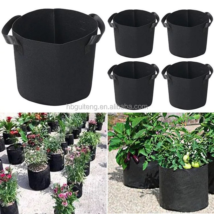 Customized size and logo garden plant nursery bag felt 100 200 gallon grow bag