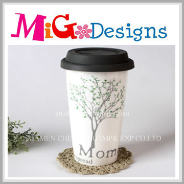 Coffee Mug, Ceramic Cup Mug With Cover