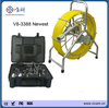 CCTV DVR system live image 300m push rod cable sewer pipe inspection camera with voice recorder