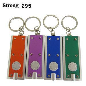 promotional gift rectangular colorful plastic Mini Portable White LED Flashlight Torch Light Lamp Keychain
