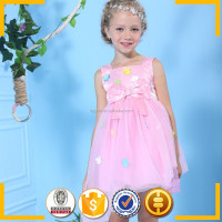 Children frocks designs Lovely pink dress princess dress children clothing for kid girl party