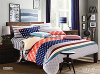 Dots and stars printed bedding set