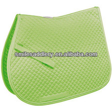Polycotton square quilted Saddle Pad
