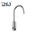 Brass chrome plated deck mounted self closing auto stop automatic kitchen faucet