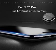 Premium quality 3D curved glass screen protector for iphone 6 7 , popular mobile phone accessories for iphone 6 7 tempered glass