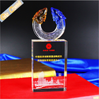 Hot sale star shaped liuli art custom crystal trophy