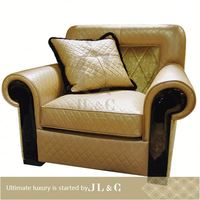 JS12-01 one seat leather 2013 new design french style modern leather sofa with up to date design from JLC furniture