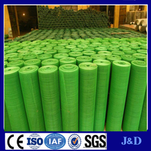 3/8 Inch Galvanized Welded Wire Mesh / PVC Coated welded Mesh Green Color