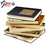 Customized hardcover cheap price yellow paper leather book