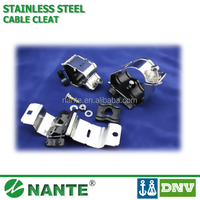 SS316 Stainless Steel Cable Cleat, Cable Clamp with DNV approval trefoil and single