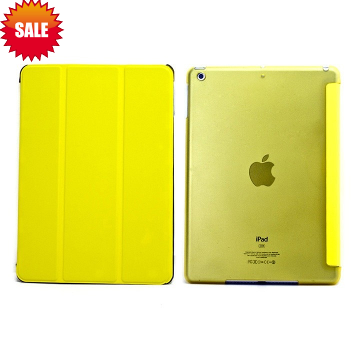 PU Leather Magnetic Smart Cover Skin With Crystal Hard Back Case Shell,For iPad Air Smart Cover