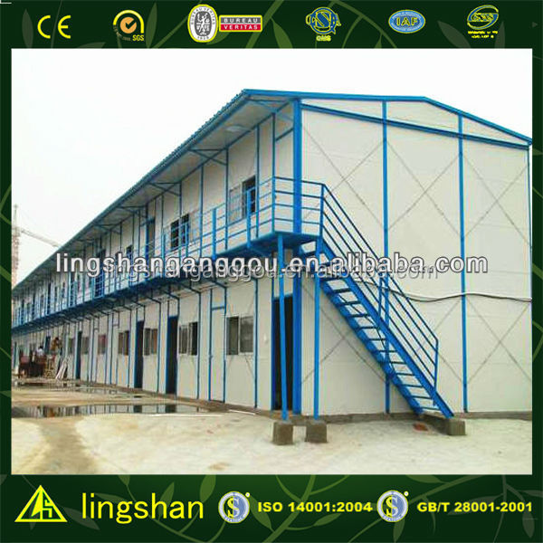 high quality steel structure low cost prefabricated house in hotel design
