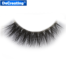handmade real mink fur false eyelash 3D strip mink lashes