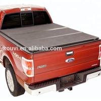 kv8802 aluminum hard tri fold pickup truck bed tonneau covers for 2014-2015 GMC 5.5ft bed 4 door double cab