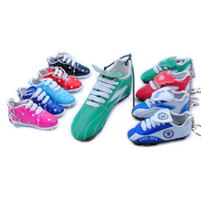3D soccer shoes keychain, mini world cup canvas football shoes key chain, sneaker running cleats ballet high heel shoes Keyring