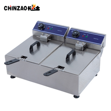 Industrial Commercial Electric Deep Fryer CE Proved Double Tank 20L Fryer