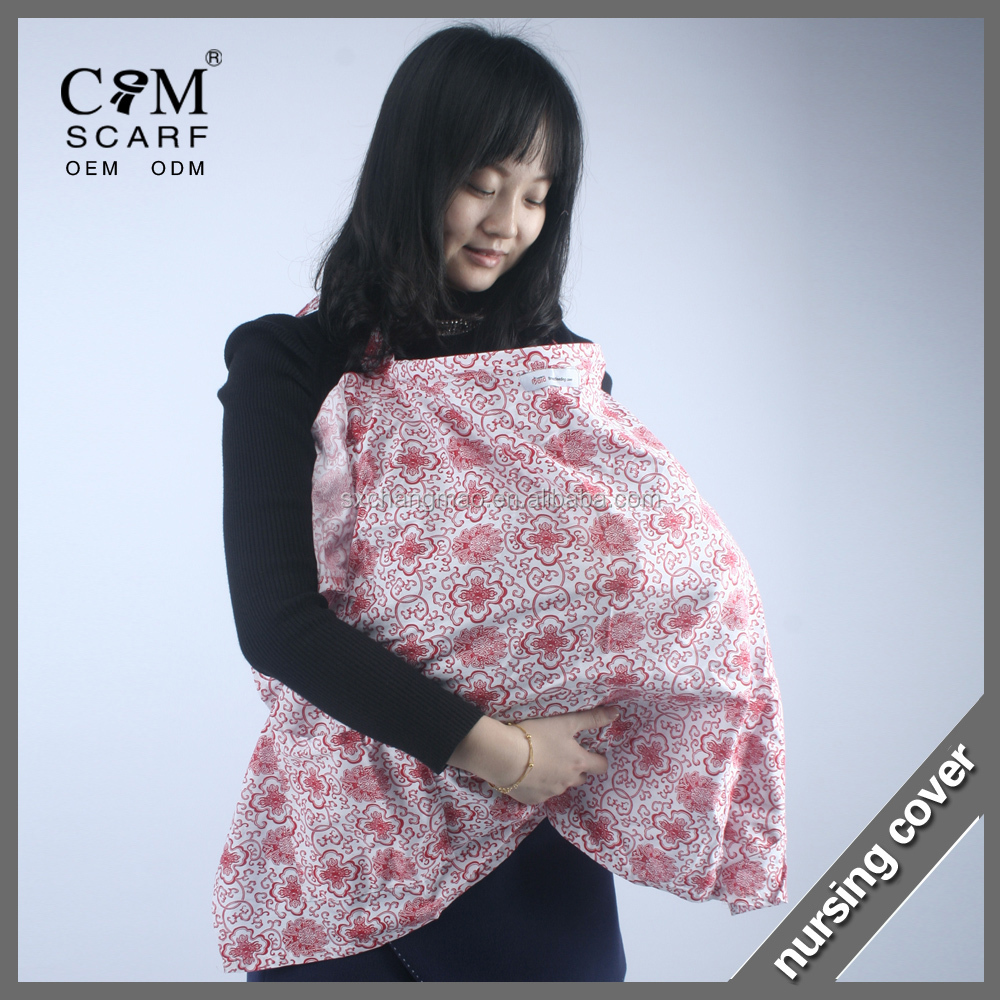 Stylish and High Quality AZO Free Breathable 100% Cotton Nursing Cover for Breastfeeding