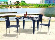 WF-3026 4 seater rattan dining set