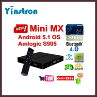 Mini MX Amlogic S905 Quad-core 64-bit 4k android 5.1 bluetooth 4.0 best smart tv box