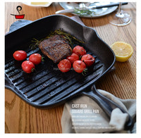 cast iron beef frying pan