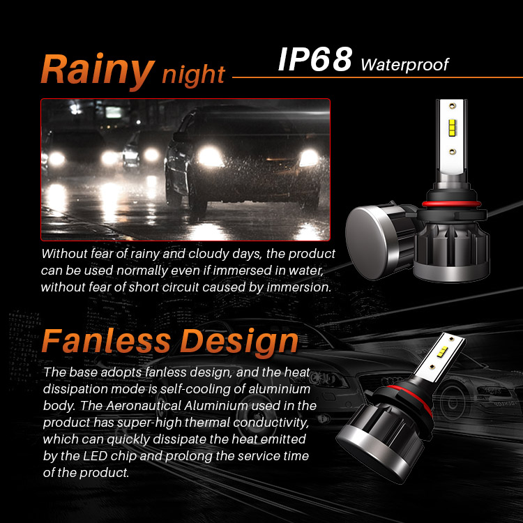 Diesel 2019 new style auto light kit Long lifespan 40W 4000 lumen hb3 h10 9005 led head lights bulbs for cars and trucks