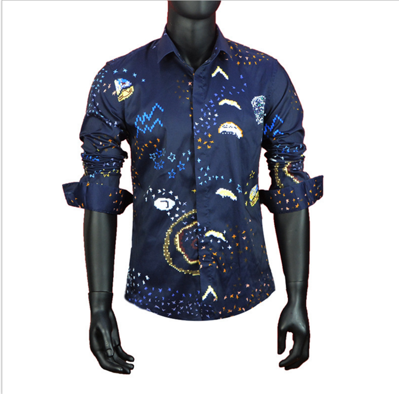 High Quality Sublimation Custom Design Pattern Men Casual Shirt Material In Cotton Fabric