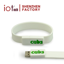 Wholesale Silicone Bracelet USB Flash Drive 2/8/32/64GB,Promotional Wristband Pendrive