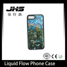 For iPhone 7 Liquid Glitter Case PC Plastic Shining Liquid Quicksand Flow case for iPhone 7 plus