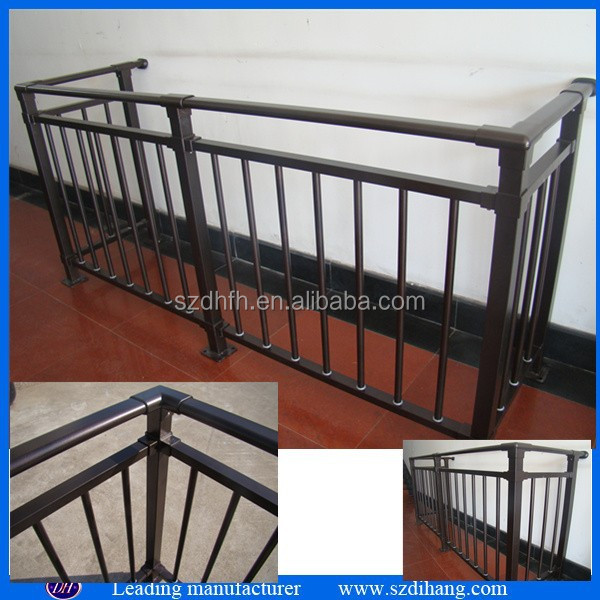 Galvanized steel balcony railing iron pipe