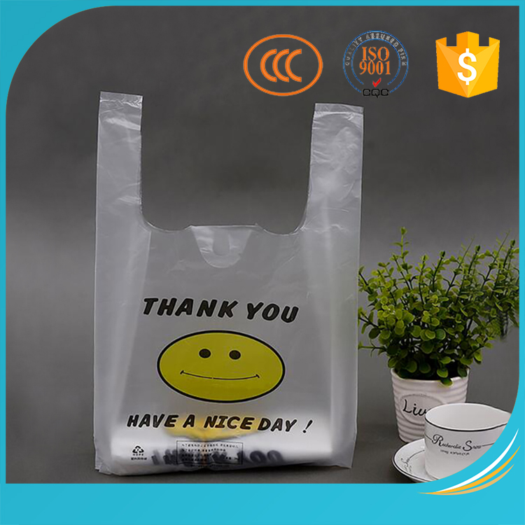 Hots t-shirt pe printed beautiful shopping plastic bag