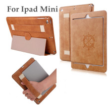 Retro anti-drop super heat radiation leather case for ipad mini 1/2/3, ultra slim holder leather case for ipad mini