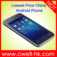 Low Price Android Smart Mobile Phone Support WIFI Whatsapp Facebook 4 Inch Android 4.4 2G GSM ECON Y360 Unlocked