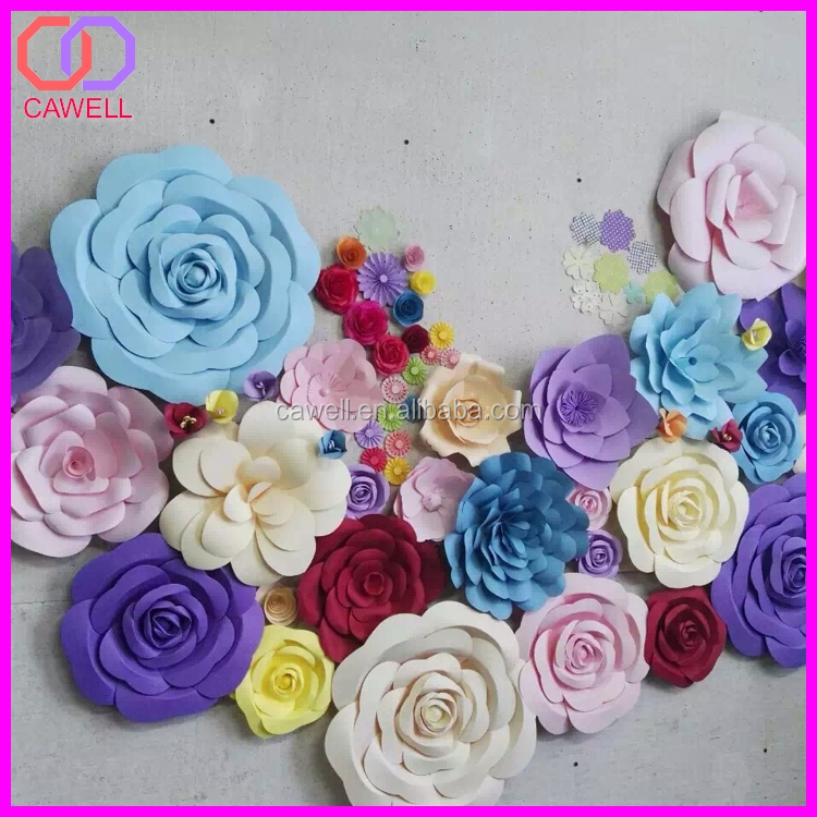 The 40cm Diameter White Rose Hot Selling High Quality Handmade Giant Paper Flower