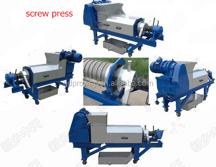 slurry dewatering screw press
